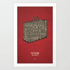 Pulp Fiction Art Print by Jerod Gibson - $20.00