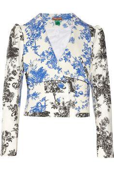 Duro Olowu|Toile de Jouy-print cotton-blend jacket|NET-A-PORTER.COM