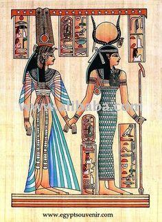 Pinturas egipcias de papiro de isis -& nefertari-imagen-Artesanía en Stock-Identificación del producto:117542793-spanish.alibaba.com
