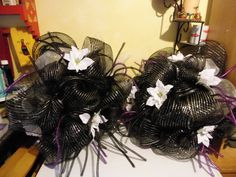 Theme is Nightmare Before Christmas  2 Wreaths I have made