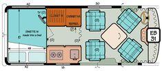 Sportsmobile Custom Camper Vans - Extended Body Standard Plans