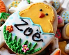 Easter Cookie Nibbles 3 Dozen Miniature Bunny by CraftedCookies