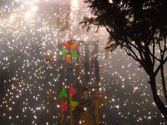 Fireworks in the village