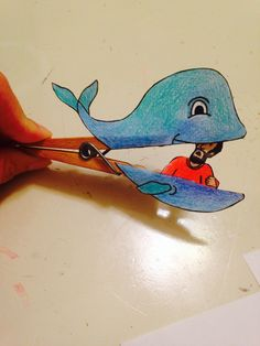 Color Your Own Jonah The Whale Pop Up Puppets Craft Kit