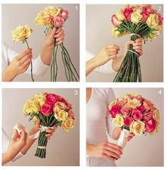 Have a make-your-own-flower-bouquet station at a party as the favor! Diy Wedding Bouquet, White Wedding Bouquets, Diy Bouquet, Wedding Pins, Our Wedding, Wedding Flowers, Dream Wedding, Wedding Stuff, Bridal Bouquets