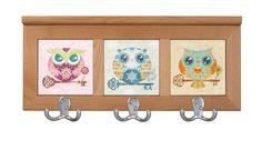Paper Owls Nursery Coat Rack, Jacket Hanger by Sandra Vargas - Baby Shower gift idea