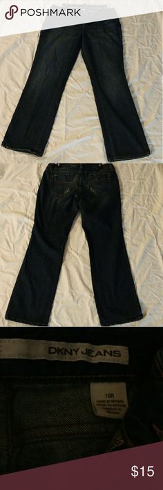DKNY Jeans Size 16 regular (maybe fits like a 14) distressed look DKNY Jeans