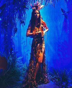 Pocahontas in Harrod's window display