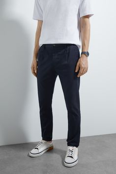 PLEATED CHINO TROUSERS - View All-TROUSERS-MAN | ZARA Austria