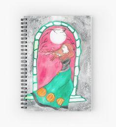 October Moon Spiral Notebook