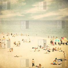 DENY Designs Shannon Clark Polyester Vintage Beach Shower Curtain