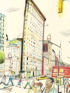 An Illustrated Tour of New York City from a Dog's Point of View – Brain Pickings Voyage Sketchbook, Artist Sketchbook, Travel Illustration, Graphic Design Illustration, Paris Illustration, Drawing Sketches, Art Drawings, Gravure Illustration, Expositions