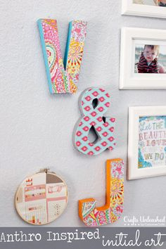 DIY Initial Wall Art by Lil Mrs Tori for Crafts Unleashed