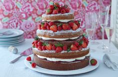 Prepare for the British Bake Off with this quintessentially British show-stopping Victoria sponge, boasting an impressive 5 tiers of light sponge, jam, whipped cream and fresh fruit