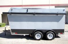 This Custom Built Cargo Trailer would make a great work shop, or great camping trailer! Find this custom trailer on GovLiquidation.