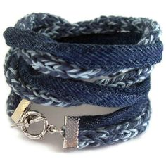 Eco friendly upcycle braceletsmoky blueSky blueVintage by saroug