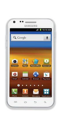"""Samsung Galaxy S II (White): Featuring a brilliant 4.5"""" SUPER AMOLED Plus screen, the Samsung Galaxy S II was built to entertain. A 1.2 GHz Dual Core processor and front- and rear-facing cameras provide stellar performance."""