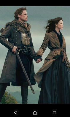 Jamie and Claire from the Outlander TV series Outlander Season 4, Outlander Quotes, Outlander Casting, Outlander Tv Series, The Outlander, Outlander Wedding, Outlander Funny, Outlander Characters, Starz Series
