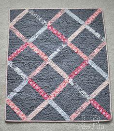lattice baby quilt