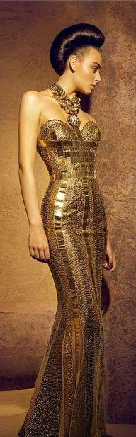 Nicolas Jebran 2012 *Gold Haute Couture it's a peice of Art!