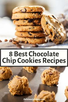 ▷ 8 Best Chocolate Chip Cookies Recipes you've ever tried (Seriously! Best Chocolate Chip Cookie Recipe Ever, Best Chocolate Chip Cookies Recipe, Favorite Cookie Recipe, Oatmeal Chocolate Chip Cookies, Peanut Butter Dessert Recipes, Cookie Recipes, Healthy Fruit Cake, The Best, Sweet Tooth