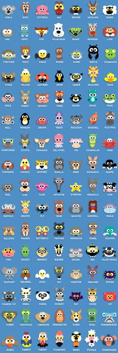 wowsers! look at all the critters you can make with punches