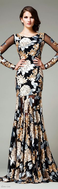 More suits, #menstyle, style and fashion for men @ http://www.zeusfactor.com // Women's  Floral Pencil Style Evening Gown.