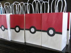 Pokeball Party Favor Bags