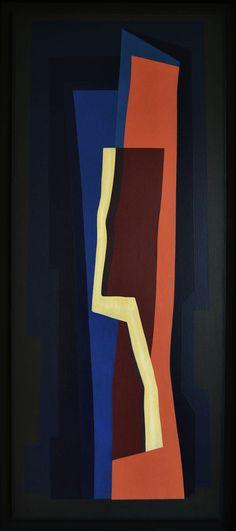 """Emilio Pettoruti (1892-1971) - As suas obras, decididamente vanguardistas para a época, provocaram grande escândalo.  """"Trazo de Luz"""", de 1964 – Nesta obra denota-se a influência pelas estéticas cubistas e futuristas, representando uma tendência ao nunca alcançado abstracionismo."""