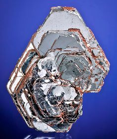 crystals of Hematite in cluster, From the Jequitinhonha Valley, Minas Gerais, Brazil.  Measures 5.5 cm by 4.6 cm by 1.8 cm in total size.  Ex. T. Bye Mineral Collection