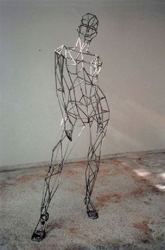 Steel Sculpture or Statues made from Metal Rods or Bars sculpture by sculptor Toby Short titled: 'virtual woman (Caryatid Big Steel Armature female/Girl sculpture/statue)' Sculpture Metal, Human Sculpture, Abstract Sculpture, Armature Sculpture, Sculpture Rodin, Sculpture Images, Wire Sculptures, Alberto Giacometti, Steel Art