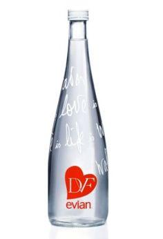 evian bottles packaging