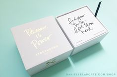 My #Truthbomb Deck Volume 2 drops November 18th! In time for the holidays or your burning need for a sign from the universe.   DANIELLELAPORTE.COM/SHOP