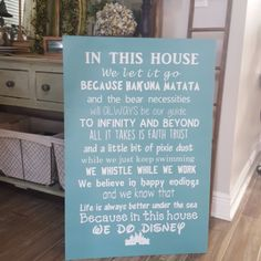 In This House - Disney Wooden Sign | Driftwood Market
