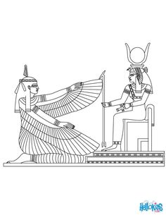 MA'AT egyptian goddess coloring page. Add some colors of your imagination and make this MA'AT egyptian goddess coloring page nice and colorful. Egyptian Drawings, Egyptian Art, Coloring Books, Coloring Pages, Free Coloring, Colouring, Ancient Egypt For Kids, Egyptian Goddess, Gods And Goddesses
