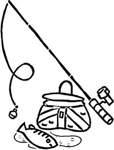 Equipment for Fishing coloring page from Fishing category. Select from 31983 printable crafts of cartoons, nature, animals, Bible and many more. Disney Halloween Coloring Pages, Minion Coloring Pages, Mermaid Coloring Pages, Easy Coloring Pages, Pattern Coloring Pages, Free Coloring Sheets, Animal Coloring Pages, Free Printable Coloring Pages, Coloring Books
