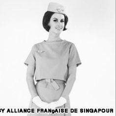 The Air France summer uniform, 1960s, by Christian Dior
