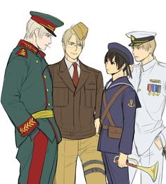 Russia, America, Japan and England<< Japan looks so confused