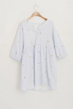 Olive - Floral Stitch Detail Stripe Dress, Blue, £59.00 (http://www.oliveclothing.com/p-oliveunique-p-20150421-063-blue-floral-stitch-detail-stripe-dress-blue)