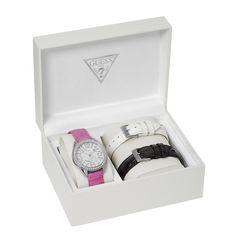 Coffret Montre Guess W11130L1 - Bracelets Rose Blanc Noir Femme - marque   Guess  Montres Découvrez 2a495710c730