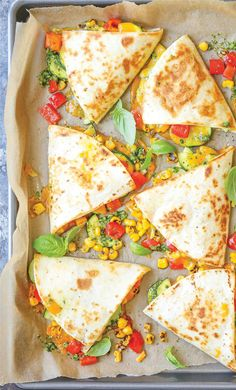 Ready in 25 minutes, these quesadillas are a perfect spring dinner. Get the recipe here.