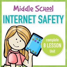 Do your students need to learn about Internet Safety? This complete 7 lesson unit will teach your middle school students everything they need to be able to make better choices about using the internet safely. Teaching Computers, School Computers, Middle School Technology, Internet Safety For Kids, Technology Lessons, Teaching Technology, Teaching Biology, Lessons For Kids, Piano Lessons