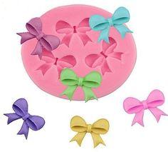Bows 3 Cavity Mini  Silicone Mold For Fondant, Gum Paste, Candy