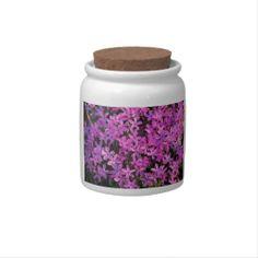 Purple Flowers Candy Jar