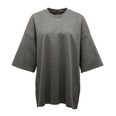 OVERSIZED CREW NECK T-SHIRT ($80) ❤ liked on Polyvore featuring tops, t-shirts, oversized tee, crew top, crew t shirts, crew neck tops and over sized t shirt