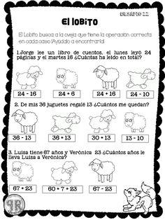 Ejercicio ( determinar si es suma o resta). Worksheets, Sheet Music, Acting, Homeschool, Education, Math, Math Olympiad, Workout Challenge, Fun Math