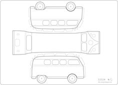 7 Best Images of VW Bus Paper Template Printable - VW Cars Paper Model Template, VW Bus Template Printable and Printable Camper Paper Template Cake Templates, Templates Printable Free, Printable Paper, Free Printables, Paper Toys, Paper Crafts, Paper Car, Sewing Room Furniture, Paper Houses