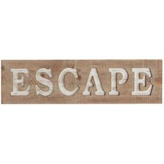 Pier 1 Imports Brown Escape Wall Decor ($50) ❤ liked on Polyvore featuring home, home decor, wall art, text, filler, words, backgrounds, quotes, brown and phrase