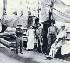 Crew of the four-masted schooner WINSLOW, Puget Sound port, Washington, ca. 1904. :: Wilhelm Hester Photographs