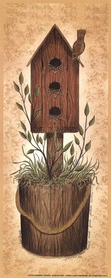 live in harmony birdhouse
